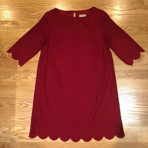 Tobi Scalloped Shift Dress